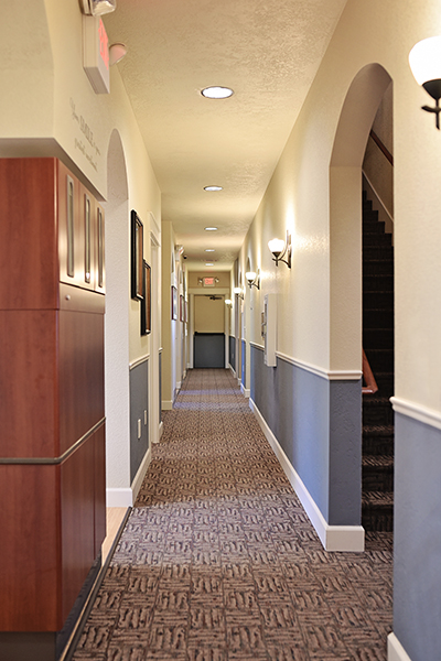 Interior photo of the hallway at Middle Creek Dental in Nampa, ID