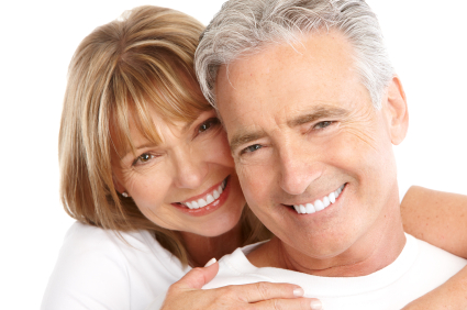 Mature couple with great teeth smiling - Dentist Nampa, ID